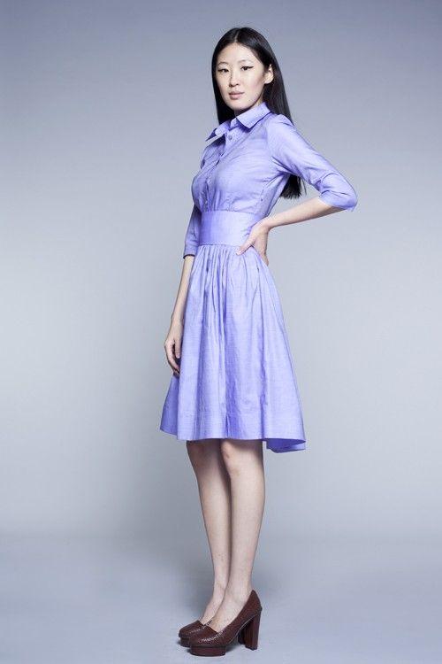 Custom Made Shirtwaist Cotton Dress by Mrs.Pomeranz by mrspomeranz