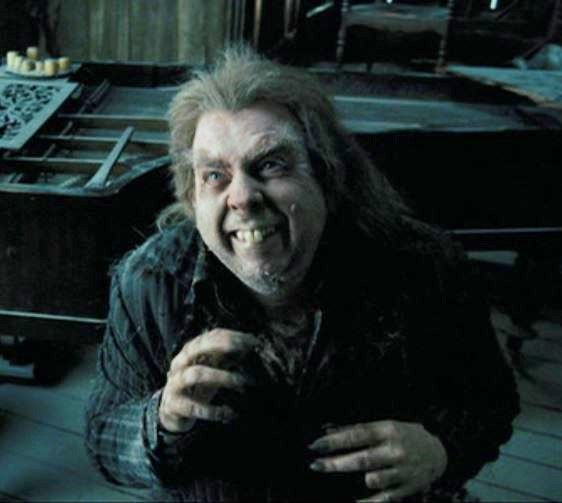 Timothy Spall as Peter Pettigrew, aka. Scabbers, the rat; Harry Potter and the Prisoner of Azkaban