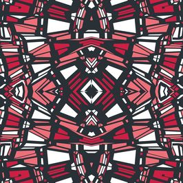 Tribal Geo 3 by Petroula Tsipitori Seamless Repeat Vector Royalty-Free Stock Pattern