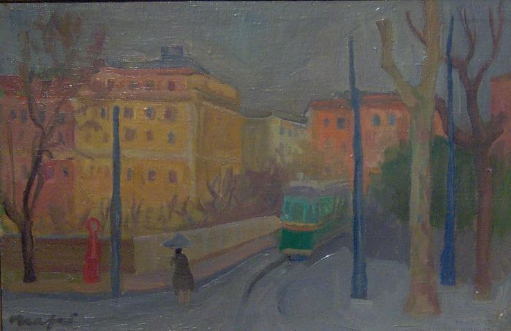Mario Mafai - Tram - 1947