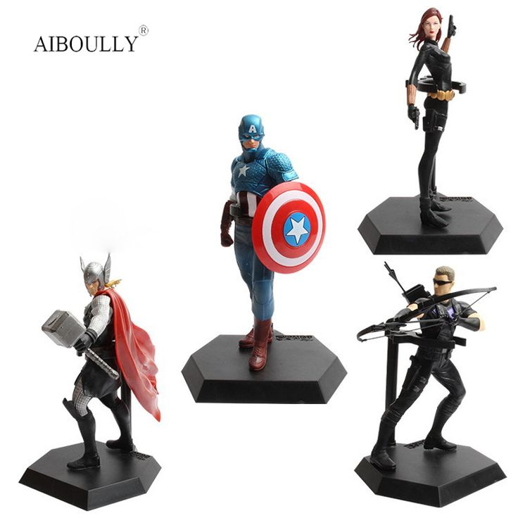 2017 Avengers Age of  Hulk Black Widow Vision Ultron Iron Man Captain America Action Batman Figures Thor Model Toys