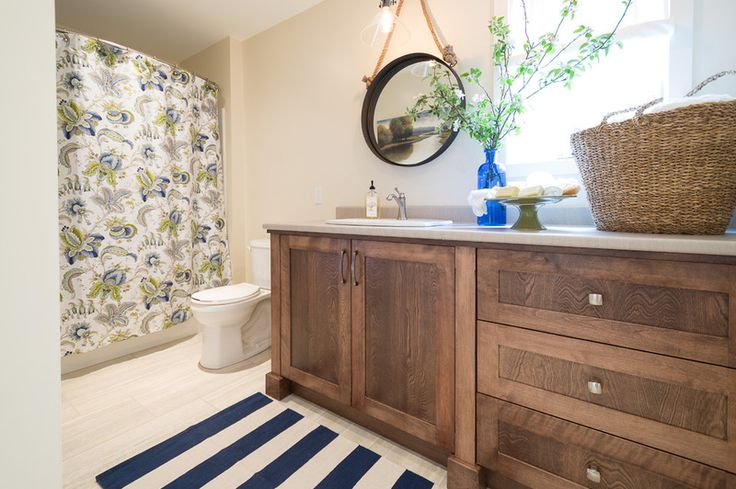 Beach Style Bathroom by Sonya Kinkade Design, i would change the shower curtain