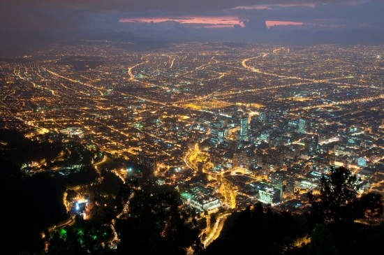 Bogota, Colombia at night