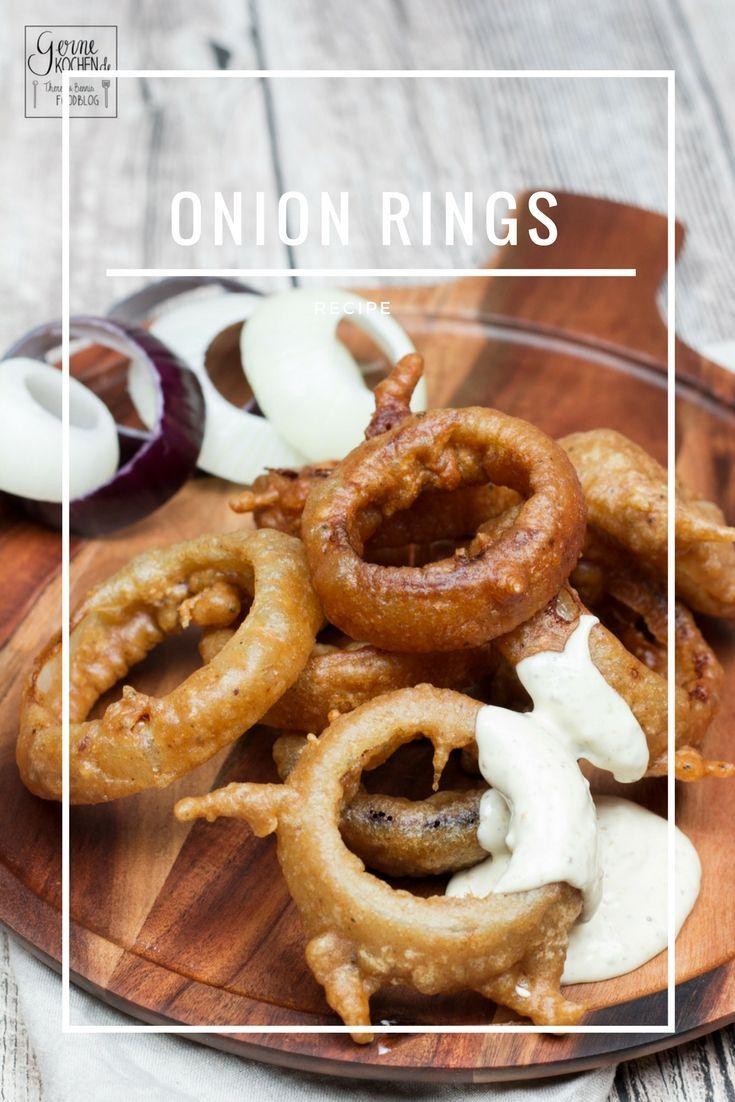Onion Rings mit einem Teig aus Guinness-Bier. Auch für jeden Nichtbierliebhaber geeignet.  #guinness #bier #beer #onion #zwiebel #ringe #rings
