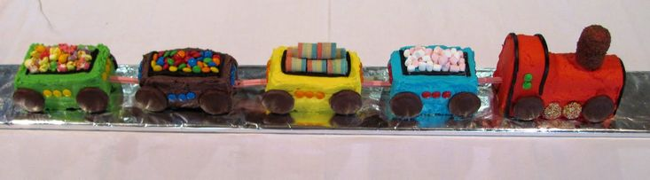 And who could forget the train cake? #birthday #cake #cookbook