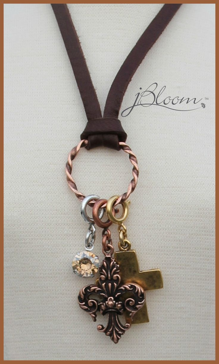 j bloom jewelry loving the leather necklace with the connector for charms 6175