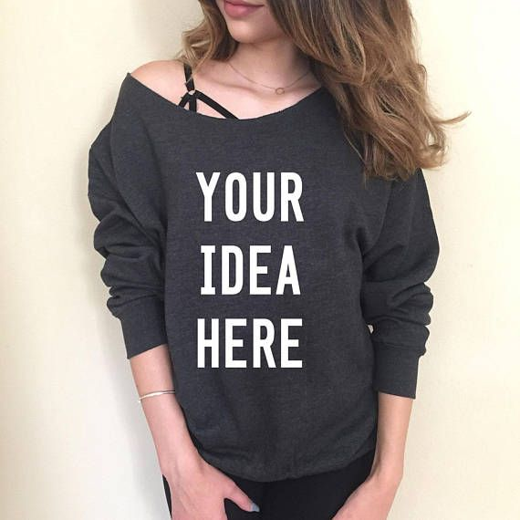 50a020367cee Custom Printed Off Shoulder Sweatshirt, Womens Sweatshirt, Customized  Sweatshirt, Personalized Sweatshirts, Custom Apparel, Custom Shirt, Custom  Tees, ...