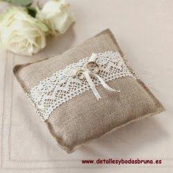 lazo rustic wedding | Porta alianzas rustico
