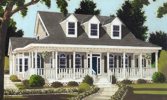 Southern style home - Click image to find more Architecture Pinterest pins