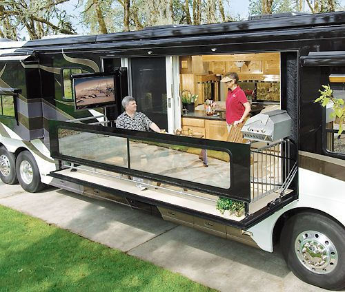 17 best images about rv life on pinterest luxury rv for Motor home toy hauler