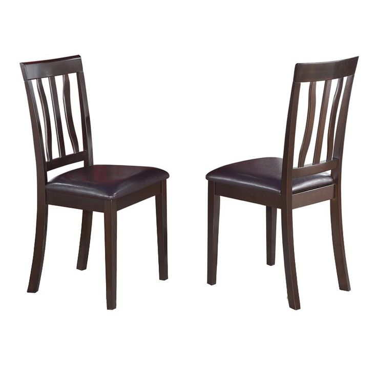 East West Furniture Antique Dining Chair with Faux Leather Seat - Set of 2  - EASE072 - Best 25+ Antique Dining Chairs Ideas On Pinterest Reupholster