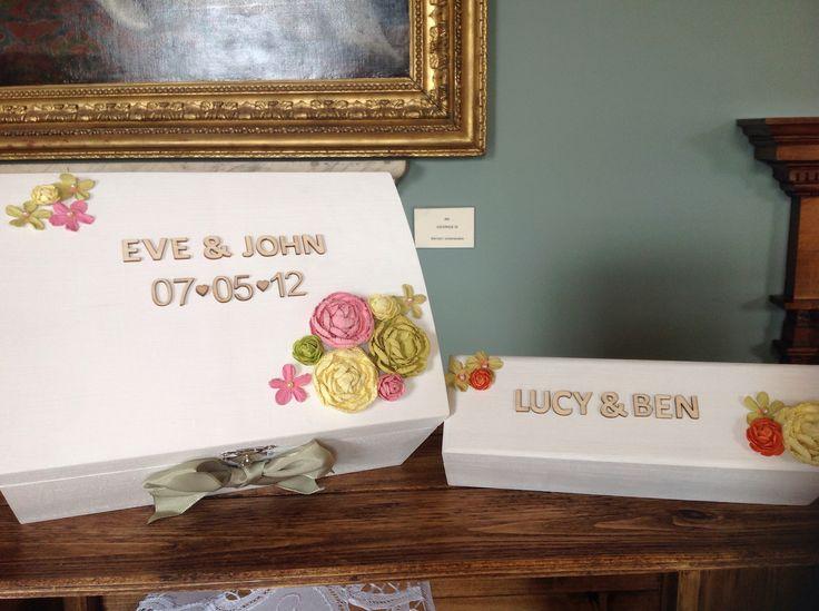 Handmade bespoke wooden wedding memories box and marriage certificate box #wedding #gift #memories #certificate #personalised #wooden