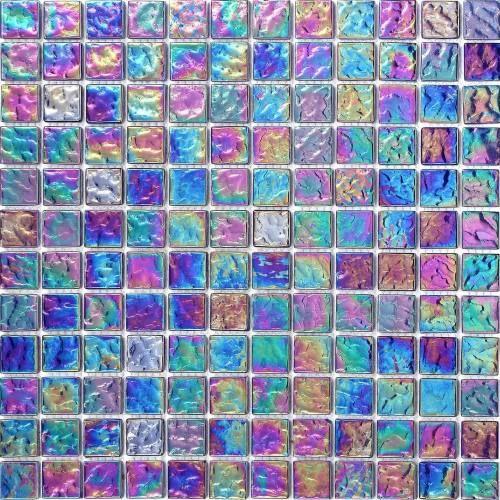Pearl Iridiscent Dark Purple Glass Mosaic Wall Tiles Sheets 300mm x 300mm M