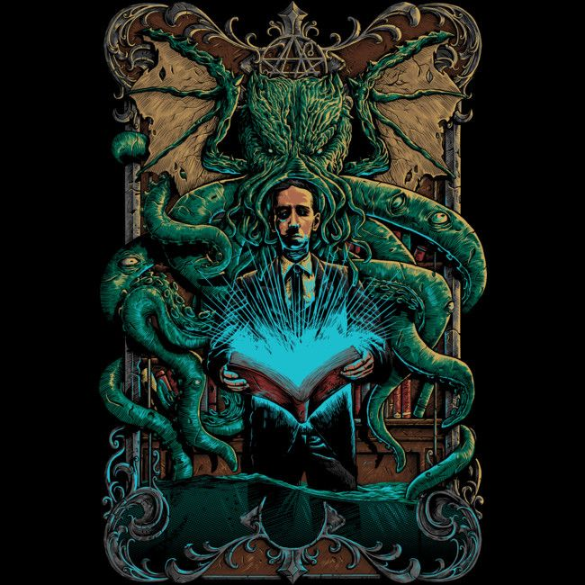 calling Cthulhu is a T Shirt designed by fourscore to illustrate your life and is available at Design By Humans