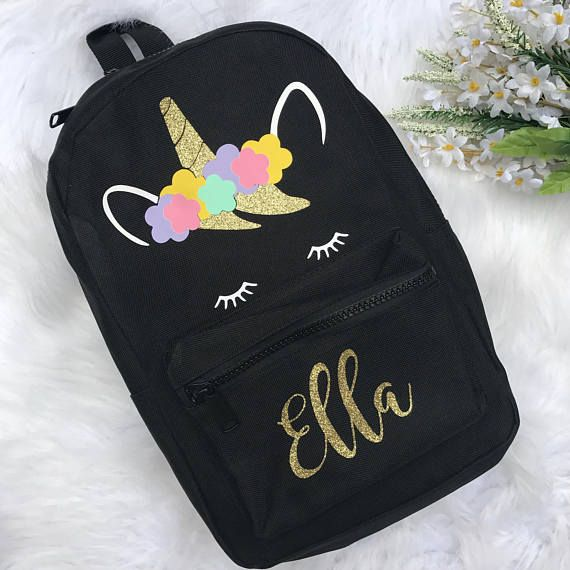 Unicorn Backpack Personalised School Backapck Book Bag