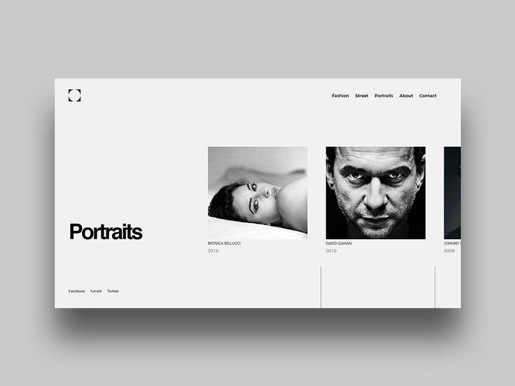 Portfolio website layout by Saimonas Mureika