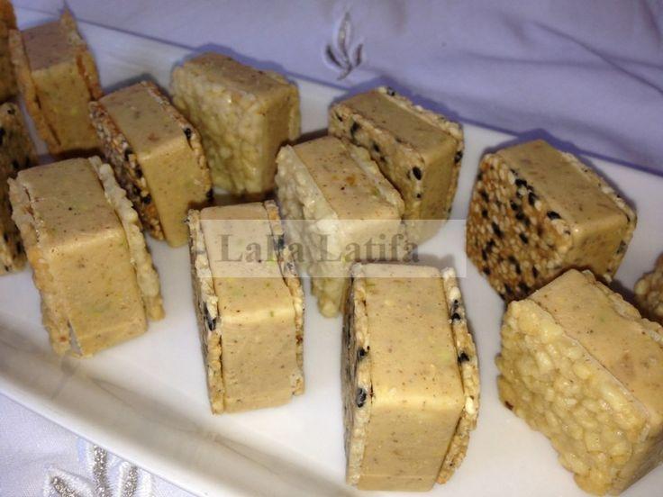 Les secrets de cuisine par Lalla Latifa , Gâteau prestige nougat,ganache  blanche