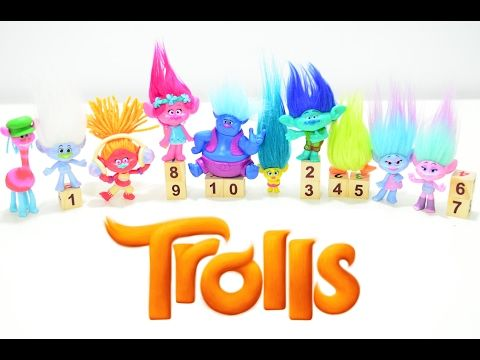 Learn colors and numbers with trolls - Montessori activities - toddlers kids play - teaching methods
