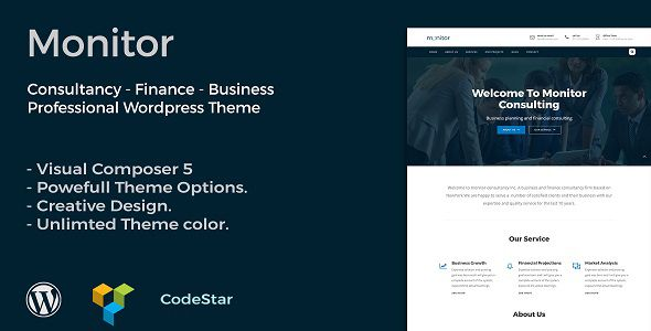 MONITOR is  a professional Theme creatively crafted for consultancy, Finance, Business Company.With its quality sections any one can build a professional look website for his or company.  Features ...