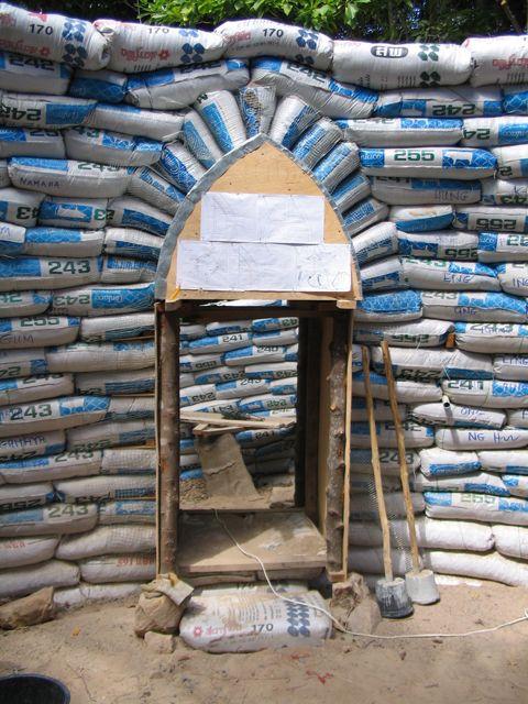 Earthbag Arch