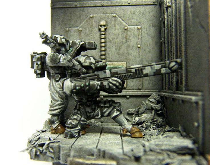 40k - Tau with Urban Camo