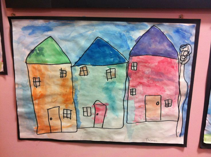 Houses inspired by the art style of Paul Horton.