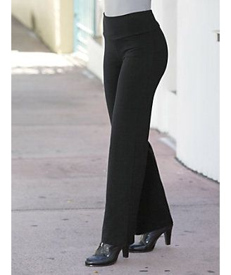 Control Waist Bootcut Legging in Black from Monroe and Main @ $45
