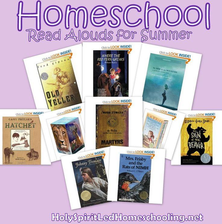 Family Favorite #Homeschool Read Alouds for Summer from @justjamerrill #hsbloggers