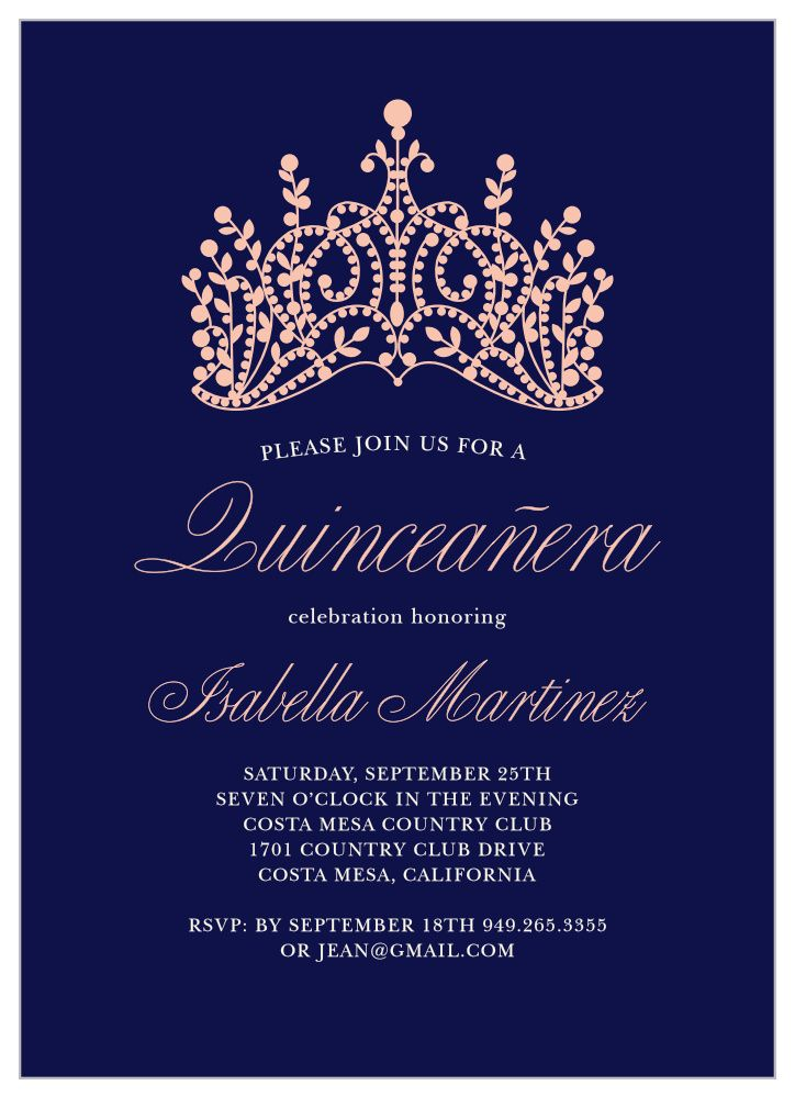 Princess Quince Quinceanera Invitations In 2021 Quinceanera Invitations Quinceanera Planning Quinceanera Party