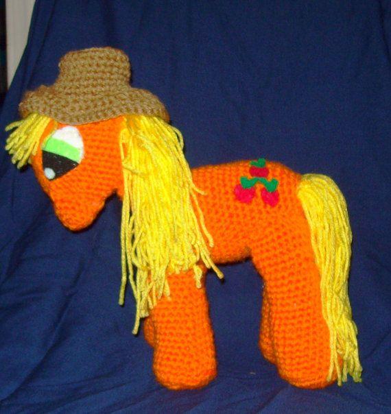 Apple Jack Crochet Pony With Removable Hat Stuffed di amydscrochet