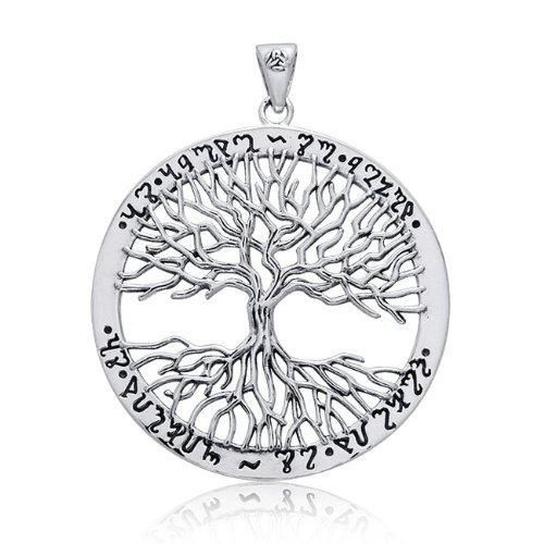 Bling Jewelry Wiccan Tree of Life 925 Sterling Silver Pendant