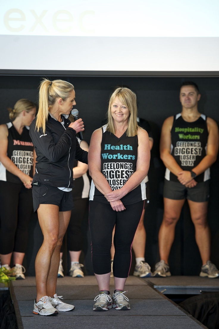 The winner - Trish Reid - $5000 worth of personal training for her efforts.