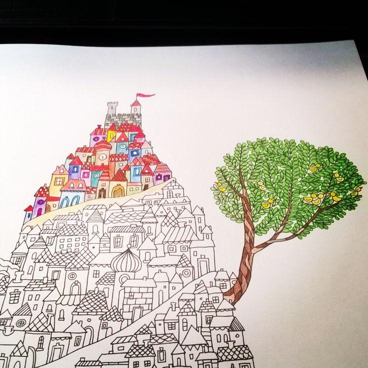 """""""#kolorowanie #niedokończona #kolorowanka #wyspy #coloring #coloringbook #coloringbookforadults #adultcoloring #islands #work #inprogress"""""""