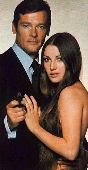 Jane Seymour takes a turn as a Bond Girl as Solitaire in Live and Let Die.  Roger Moore played James Bond.