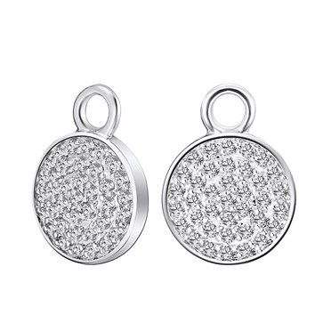 EAR CHARMS KAGI COSMOS RHODIUM PLATED ROUND CLEAR PAVE CUBIC ZIRCONIAS - Jons Family Jewellers