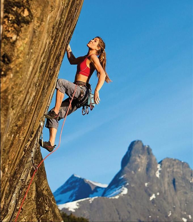 Girl Climbing Mountain