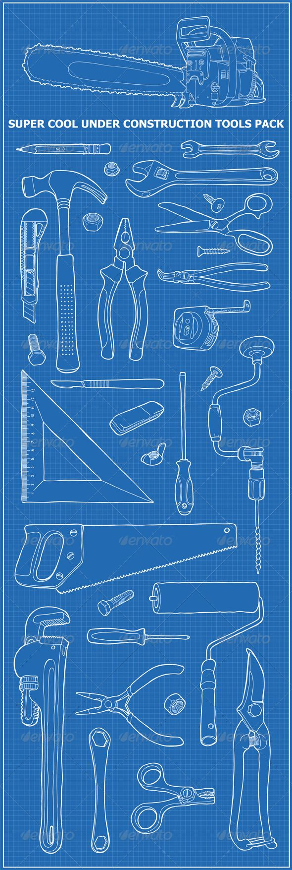Under Construction Tools Pack - Man-made Objects Objects