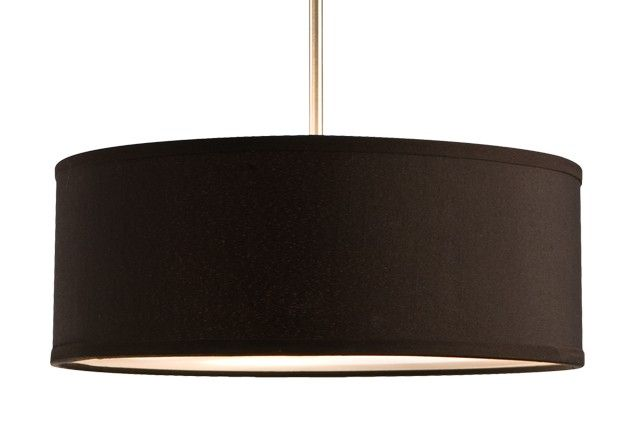 "41073 - Three Lamp Pendant with Drum Shape Textured Shade 15 3/8"" x 6"" 101.00"