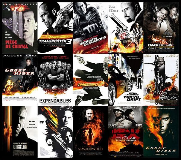 Black & White Action Movie Posters 15 Popular Movie Poster Cliches | DeMilked