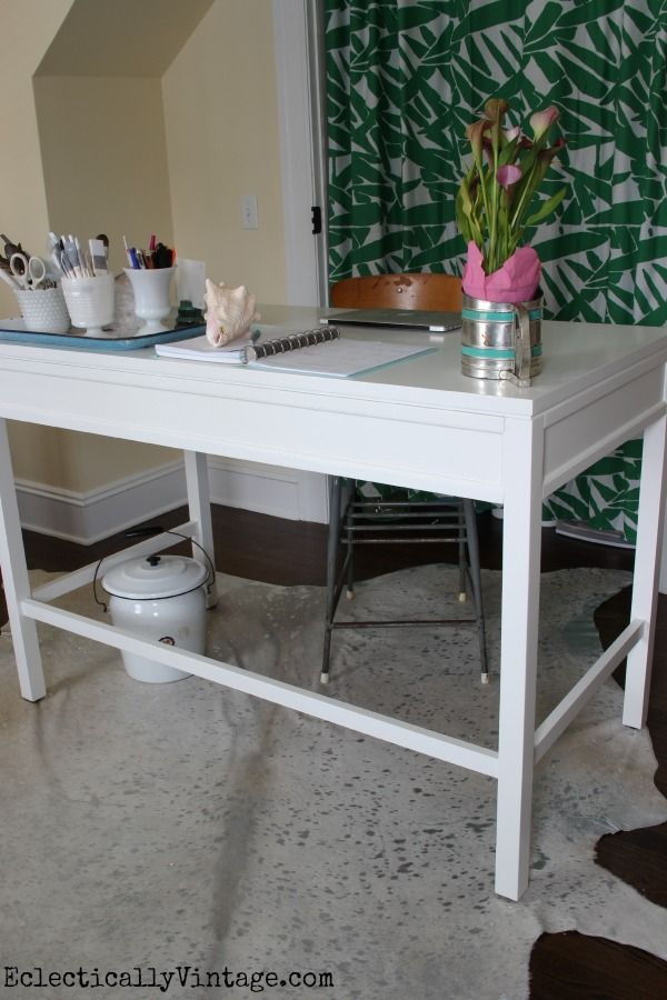 Love the counter height of this Martha Stewart craft furniture from Home Decorators Collection! eclecticallyvintage.com