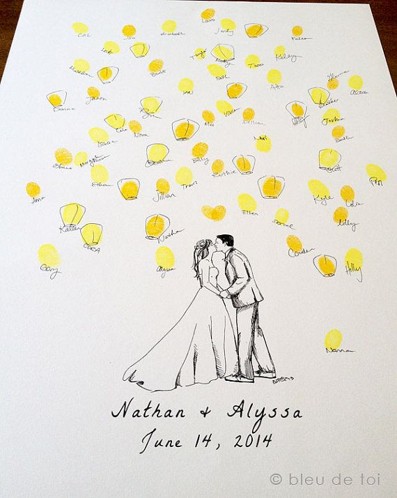 New Design Custom Couple with wish lanterns Guest by bleudetoi, $66.00