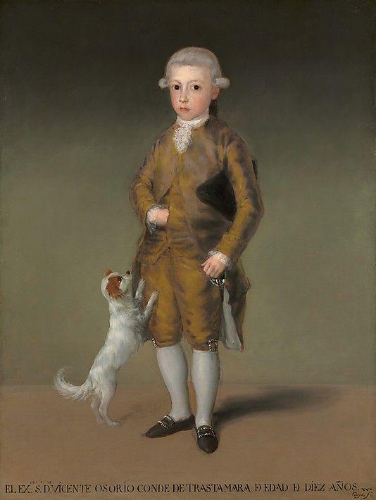 Vicente Osorio de Moscoso, Conde de TrastamaraGoya (Francisco de Goya y Lucientes) (Spanish, Fuendetodos 1746–1828 Bordeaux) Date: ca. 1787 Medium: Oil on canvas Dimensions: 54 1/2 × 41 in. (138.4 × 104.1 cm)