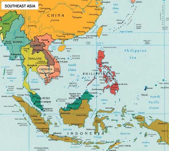 Best Maps Images On Pinterest Maps Trips And Destinations - Asia pacific map with country names