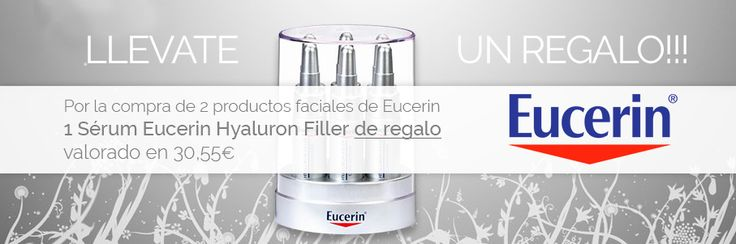 Consigue un estupendo serum hialuron filler por la compra de 2 productos faciales de la gama #Eucerin. No lo pienses y haz tus pedidos antes de que se agote la promoción!!! http://www.farmachueca.com/promocion-eucerin-facial.html