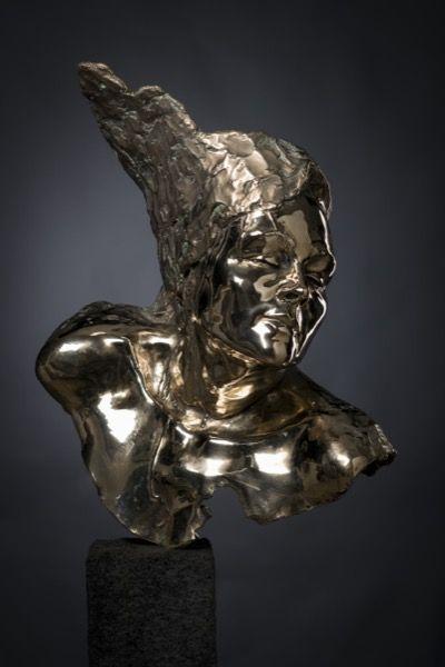 Godfried Dols. Maschera di belleza. 'Masker van de schoonheid'. Portret life size. Hoogglans gepolijst.