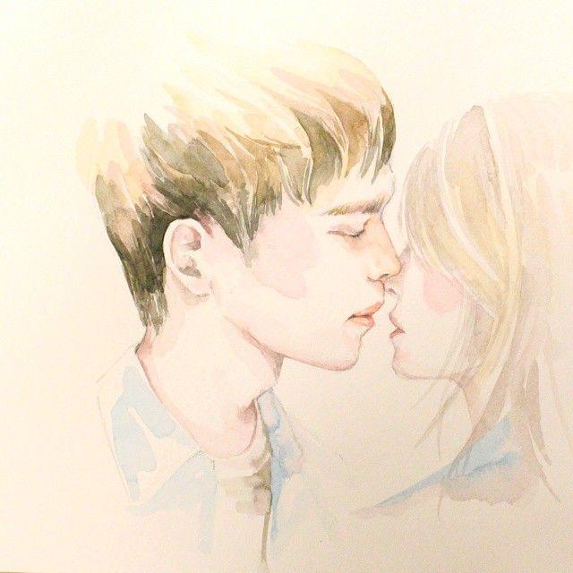 #art #artist     #boyfriend #girl #illust #illustration #sketch #drawing #pencil #painting #watercolor #paints #art #kiss  #일러스트 #그림 #수채화 #꽃 #소년 #오렌지마말레이드 #등대키스 #여진구