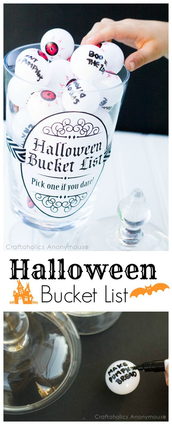 DIY Halloween Bucket list. Great activity for family to make fun fall memories!