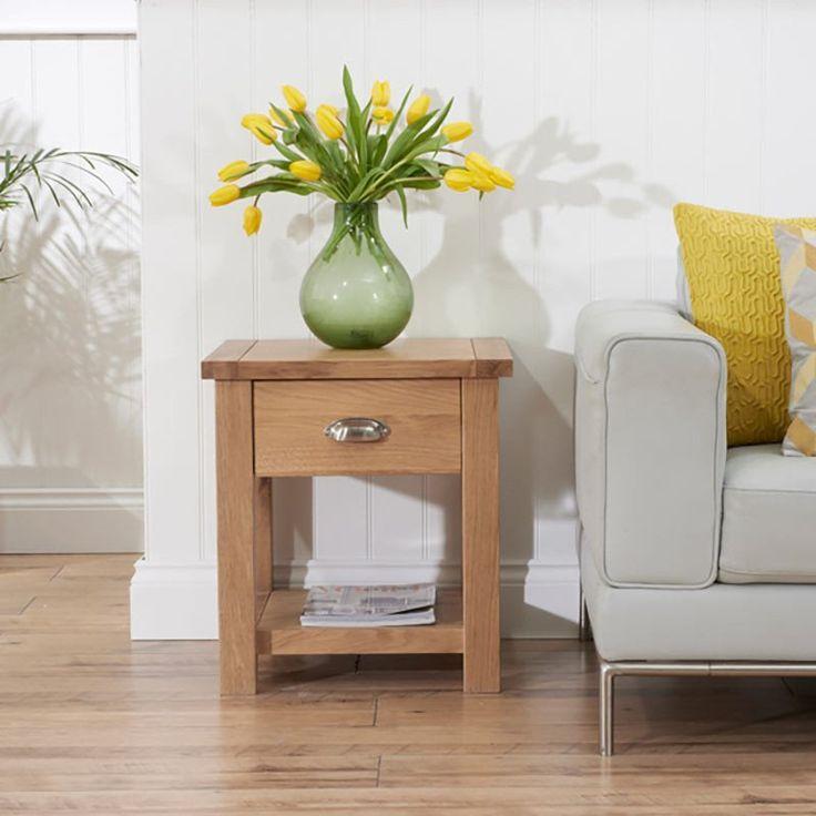 Sandringham Lamp/Bedside Table (Colours Oak/Dark Oak Rustic)   Oak  . Oak  Living Room FurnitureLiving ... Part 89