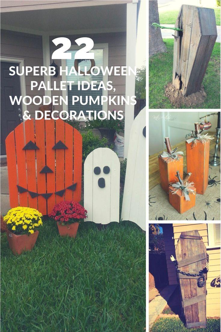 22 superb halloween pallet ideas wooden pumpkins decorations - Recycled Halloween Decorations