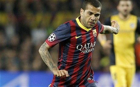 5、Dani Alves of Brazil and Barcelona World Cup: The 10 best tattooed footballers - Telegraph